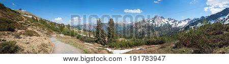 Hiking Area Fellhorn Mountain At Allgau Alps