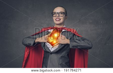 She is super and powerful