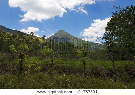 View of the Arenal Volcano in Costa Rica Central America