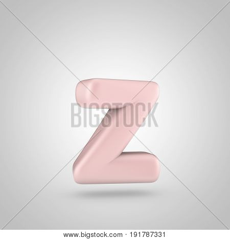 Millennium Pink Color Letter Z Lowercase Isolated On White Background