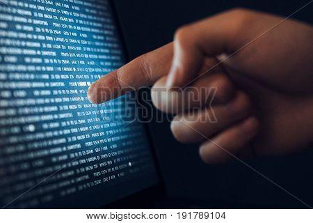 Operating system, code development, algorithms, hard disk, software.