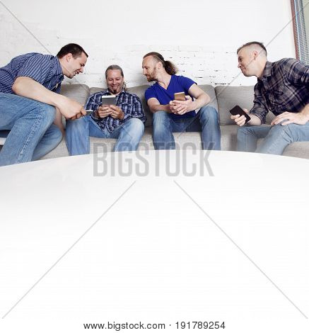 Friends Using Their Mobile Phones