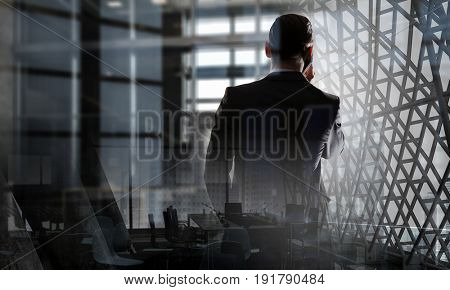 Businessman having talk