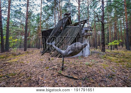 Remains of summer camp in Chernobyl Exclusion Zone Ukraine