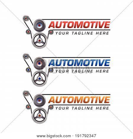 Automotive Logo Template Design. Illustration design. Fully editable vector