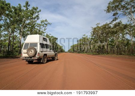 Off-Road Vehicle on Unsealed Track