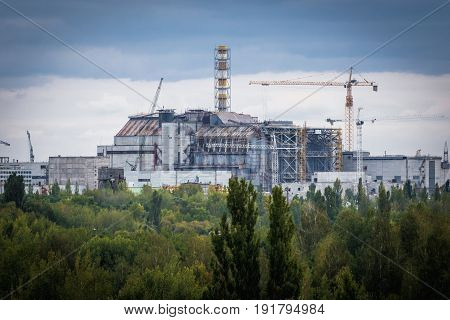 Nuclear Power Station in Chernobyl Exclusion Zone Ukraine