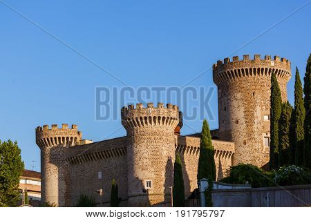 Castle of Tivoli Italy - architecture background
