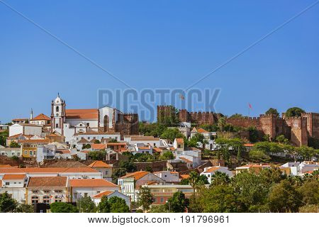 Castle in Silves town - Algarve region - Portugal