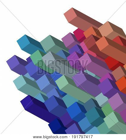 Cubical Abstract Background Design