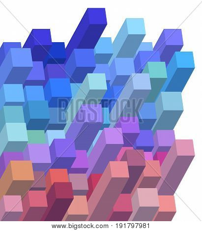 3D Cubical Abstract Background