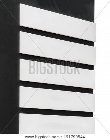 Billboard pointer with place for your text isolated on white background