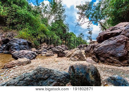 Rocks Around Jokkradin Waterfall