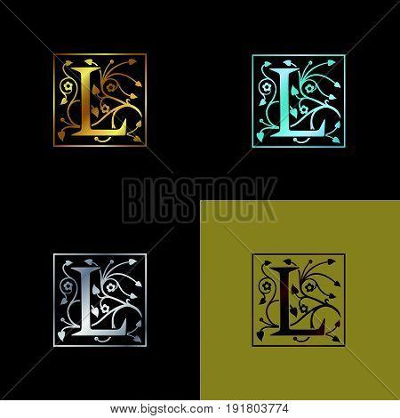 Letter L Decorative Logo. Vector Illustration design