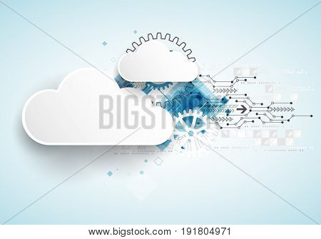 Web Cloud Technology Bussines Abstract Background