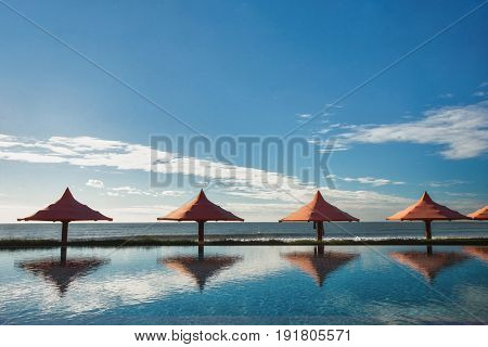 Nice swimming pool with sea view