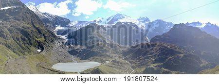 Mountain Landscape At Susten Pass