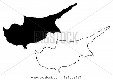 Malta island map vector illustration , scribble sketch Malta island