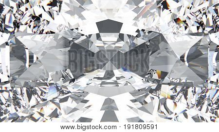 3D illustration closeup crop diamond texture macro zoom background