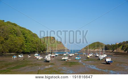 Watermouth harbour North Devon coast near Ilfracombe uk
