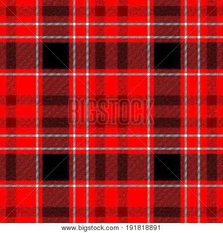 check tartan plaid fabric seamless pattern texture background - red black and white color