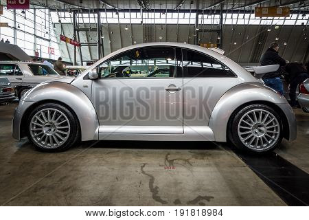 STUTTGART GERMANY - MARCH 03 2017: Subcompact Volkswagen Beetle RSI 2002. Europe's greatest classic car exhibition