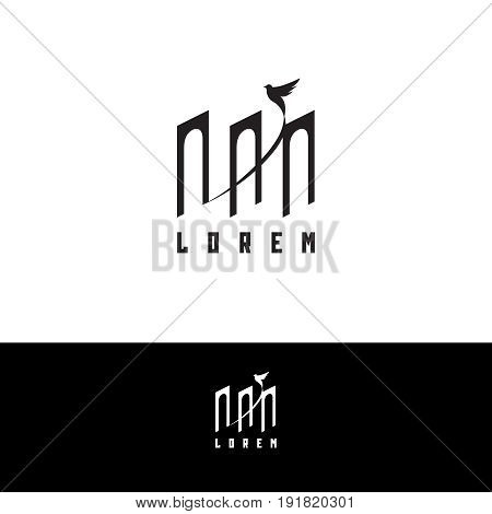 Theatre logo concept - vector illustration. Theatre, museum, bank or academy logo on white and dark background
