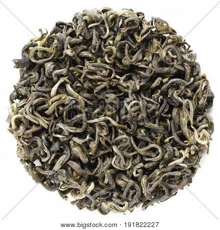 Teng Chong Hui Long Zhai Yunnan green tea isolated