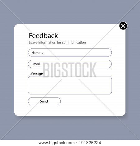 Feedback form. Write to technical support. Ask a question technical support