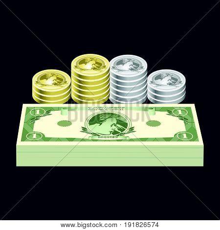 Cash money Illustration . Vector Illustration design