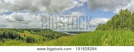 Russian landscape: a view of the Oka river