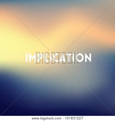 square blue sea blurred background - sky water sea colors With love quote - Implication