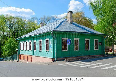 POLOTSK BELARUS - MAY 19 2017: Museum of traditional hand-weaving Poozorya Polotsk Belarus