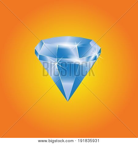 blue diamond isolated on background. vector illustration