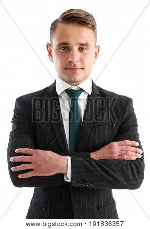 Handsome Man In Suit And Tie Look In Camera