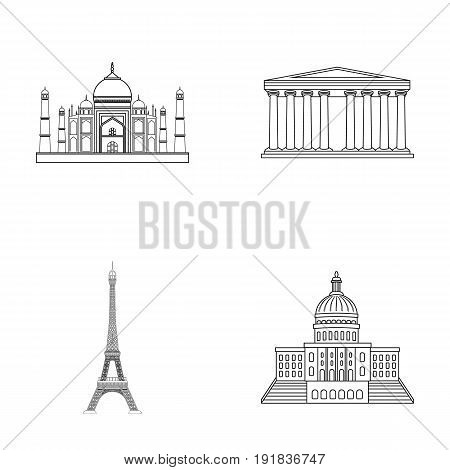 Building, interesting, place, tower .Countries country set collection icons in outline style vector symbol stock illustration .