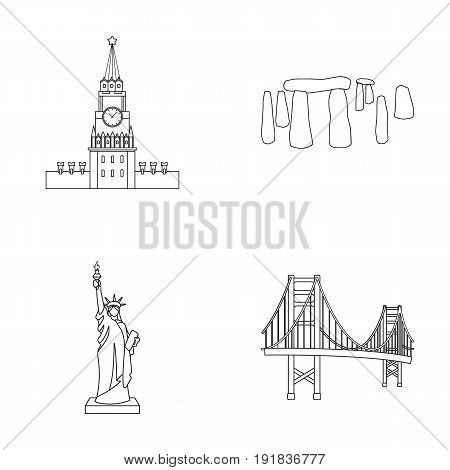 Building, interesting, place, coliseum .Countries country set collection icons in outline style vector symbol stock illustration .