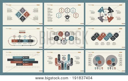 Infographic design set can be used for workflow layout, diagram, annual report, presentation, web design. Business and statistics concept with process, percentage and bar charts.
