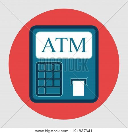 Icon ATM withdrawals from card flat design financial capacity image