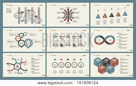 Infographic design set can be used for workflow layout, diagram, annual report, presentation, web design. Business and management concept with process, area and timing charts.