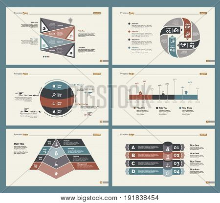 Infographic design set can be used for workflow layout, diagram, annual report, presentation, web design. Business and planning concept with process, percentage and timing charts.