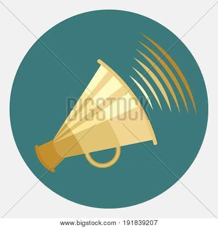 icon megaphone icon message report information flat design speakerphone fully edit image