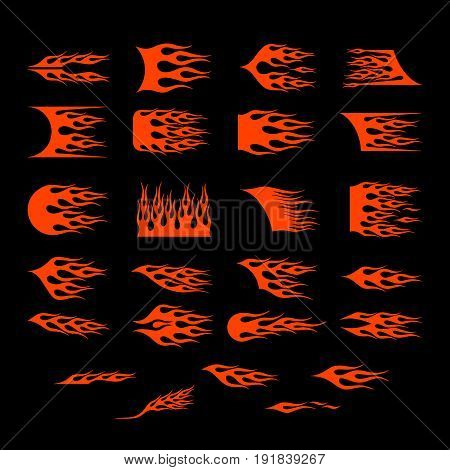 Vinyl ready flames set. Great for vehicle graphics and T-shirt decals.