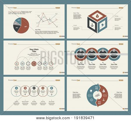 Infographic design set can be used for workflow layout, diagram, annual report, presentation, web design. Business and management concept with process, line and pie charts.