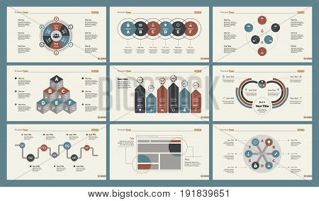 Infographic design set can be used for workflow layout, diagram, annual report, presentation, web design. Business and teamwork concept with process and percentage charts.