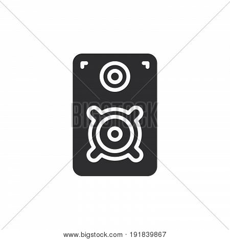 Loud speaker icon vector filled flat sign solid pictogram isolated on white. Symbol logo illustration. Pixel perfect