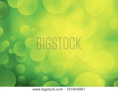 Abstract Green circular bokeh background. Vector Illustration design