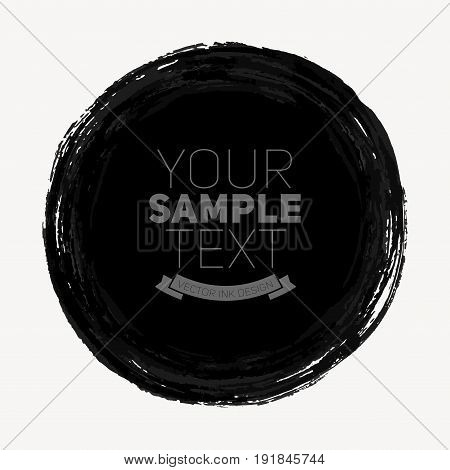 Beautiful color grunge design elements. Vector circle illustration