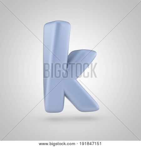 Serenity Color Letter K Lowercase Isolated On White Background