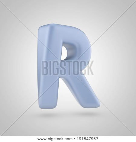 Serenity Color Letter R Uppercase Isolated On White Background